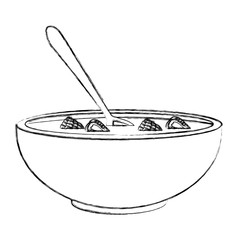 Cereal and milk bowl icon vector illustration graphic design