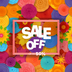 Season sale off vector concept. Vector background