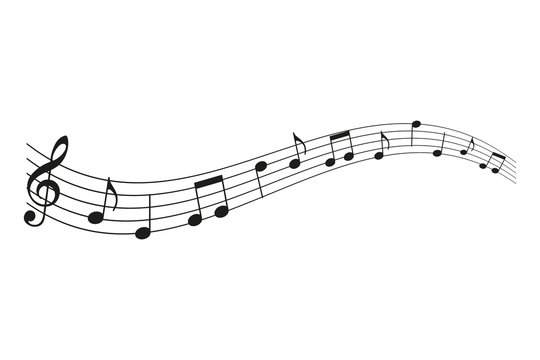 Music notes. Vector.
