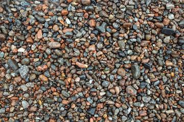 Wet colored sea stones texture