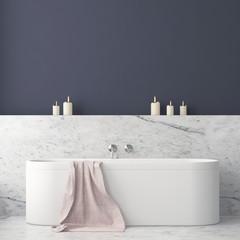 mock up bathroom in a modern style 3d