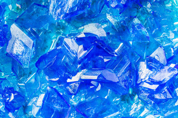 Blue Crystals Pattern Abstract Background Copper Sulfate