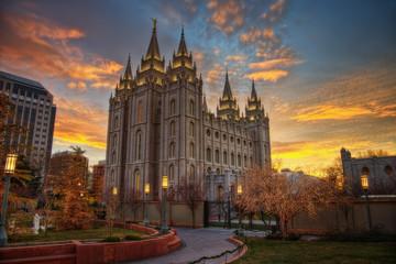 Salt Lake City Sunset Fototapete