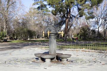 Fuente del parque del Retiro, Madrid