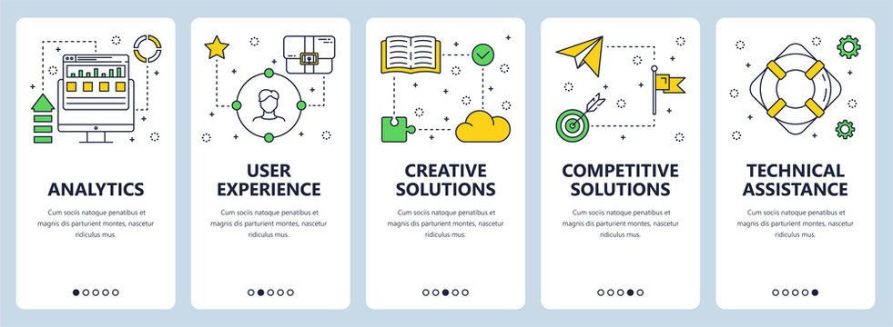 Vector modern thin line business analytics concept web banners