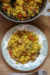 pilaf - rice porridge with meat and spices