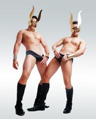 dancers wearing   golden rabbit ears