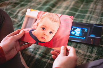 Photos of a small child.