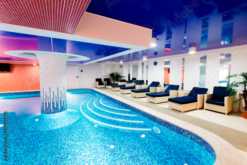 Private Swimming Pool For Relaxation With Beautiful Lighting