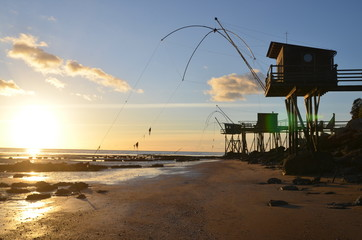 Fishing plaices (Carrelets), West of France