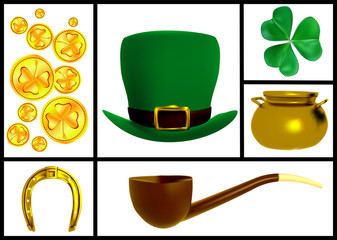 set of images for the patricks day