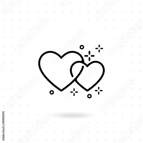 Heart Icon Favorite Romantic Vector Icon Heart Symbol For Love