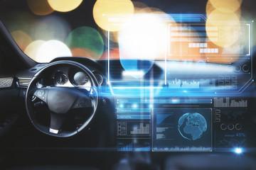 Car with digital screen