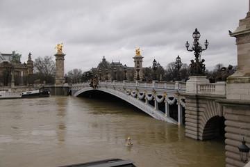 Foto op Aluminium Krakau Paris - Crue de la Seine