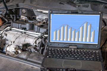 car diagnostic /  computer diagnostics of the engine in the car