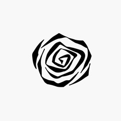 monochrome black and white rose isolated on background