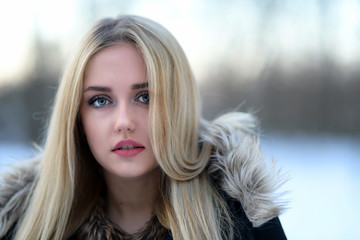 Photo of a beautiful young blond woman