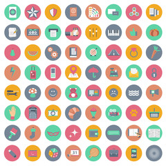 Universal icon set for websites and mobile applications. Flat vector illustration