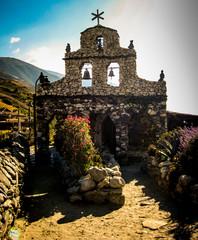 Stone church San Rafael in Merida