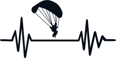 Parachute heartbeat line