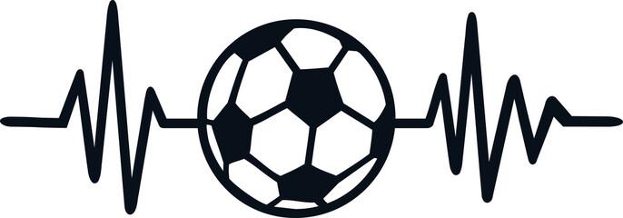 Soccer heartbeat line german