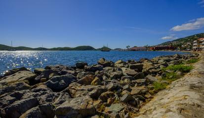 Caribbean ocean scene
