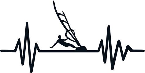Windsurfing heartbeat line