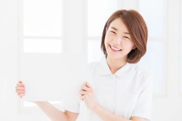 笑顔のナース ホワイトボード