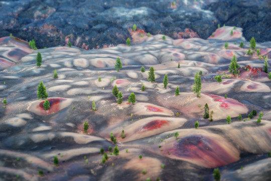 Painted Sand Dunes Lassen Volcano
