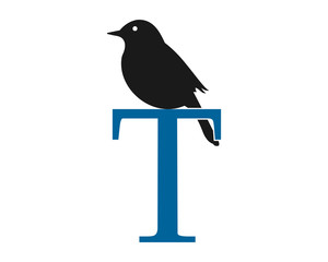 raven typography image vector icon logo silhouette