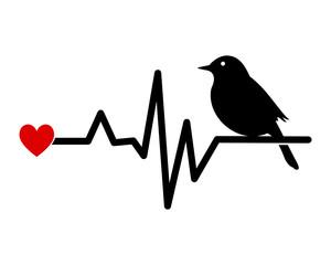 raven heart image vector icon logo silhouette