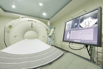 MRI scanner room at hospital