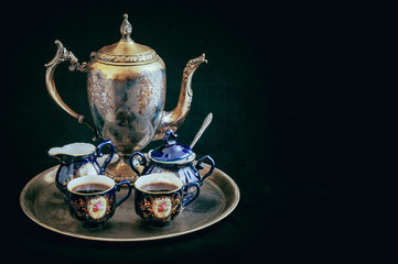 Tarnished Silver Tea Set