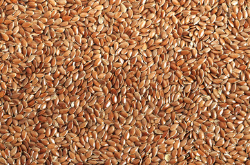 Brown flax seeds. Diet of a healthy diet.