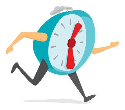 Alarm clock running fast
