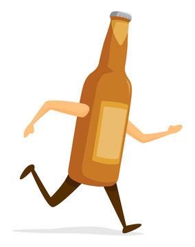 Beer bottle running fast