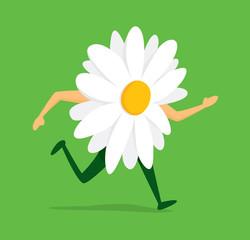 Flower running fast