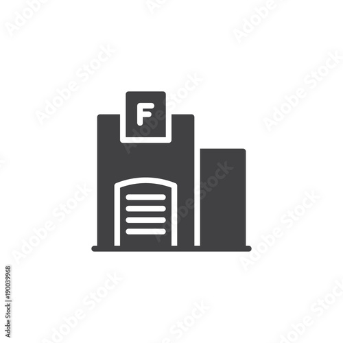 Fire station building icon vector filled flat sign solid pictogram fire station building icon vector filled flat sign solid pictogram isolated on white ccuart Images