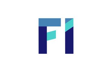 FI Ribbon Letter Logo