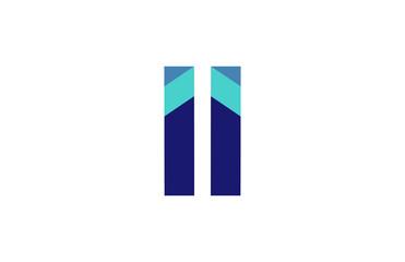 II Ribbon Letter Logo