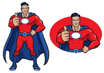 superhero thumb up