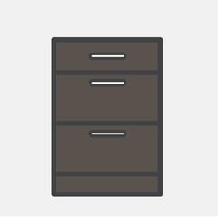 Illustration of document drawer