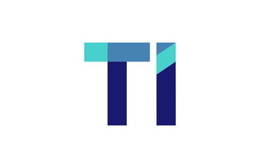 TI Ribbon Letter Logo