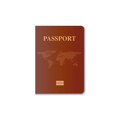 Passport cover vector design, Identification citizen