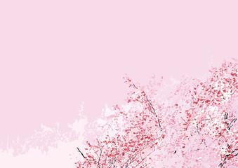 桜フル斜め シンプル ピンク