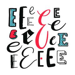 Letters E Set