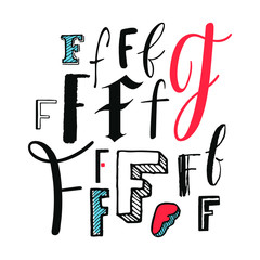 Letters F Set