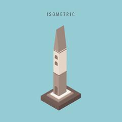 isometric. Castle. vector illustration.