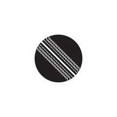 Cricket ball vector icon