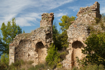 Ruins of the ancient town Syedra (Siedra), near Analya, Turkey